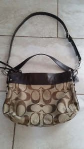 GENUINE COACH Brown Cross-Body Purse