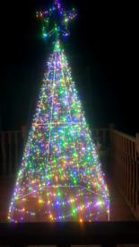 6 foot steel christmas tree