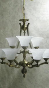 Gorgeous 2-Tier, 9-Light Chandelier by DVI – SAVE OVER 75%!!
