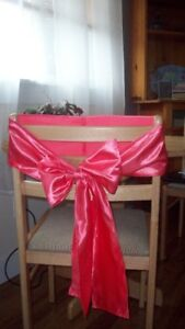 chair tie backs/bows