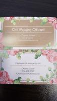 Civil Wedding Officiant / Célébrante civil $250
