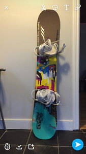 BURTON lipstick Snowboard with Burton bindings