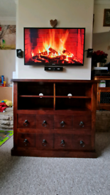 Solid wood TV media unit/sideboard