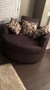 Grey sofa and matching Nest chair