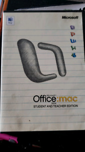 Microsoft office for mac 2004 student and teacher edition.