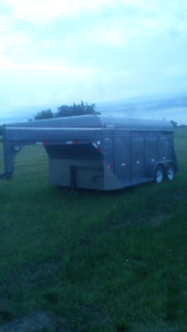 14 Foot  Berglin Stock Trailer