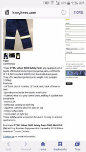 STIHL chainsaw pants with suspenders Prince George British Columbia image 1