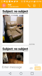 Leather couch n chair