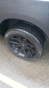 "Ram SRT 10 OEM wheels and tires 22"""