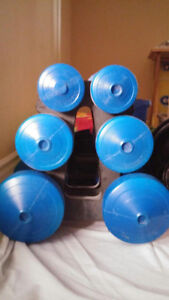 3 sets of dumbbells