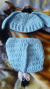 Adorable eeyore diaper cover and hat