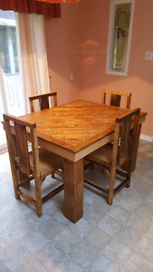 Handmade kitchen table and chairs