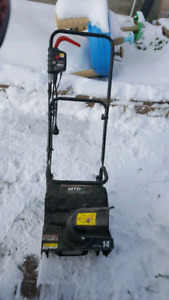 MTD electric snowblower 14 inch