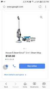 Hoover 2in1 Steam Mop - Brand New In Box
