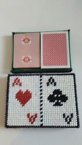 Two Packs of Playing Cards with Handmade Case