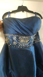 Dark blue sz 12-14 prom dress