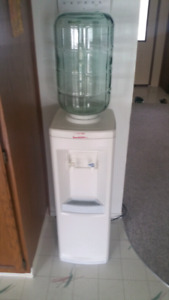 Water cooler with 2 glass bottles $99