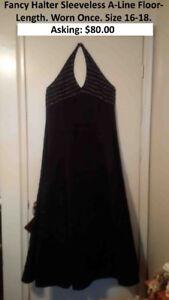 Halter Sleeveless Black Dress