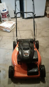 Gas Lawn Mower and Electric Trimmer