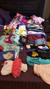 12-18 months girls clothes - assorted (112 pieces)
