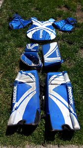 Full set of Reebok street hockey goalie equipment