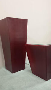 Burgundy Containers / Urns / Planters - Modern Elegant