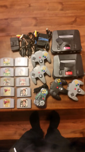 N64 consoles, games and accessories