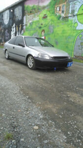 Lowered 2000 Honda Civic Coupe
