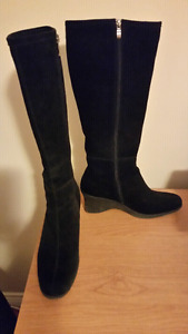 Womens Black Suede Boots