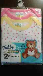 Brand New Teddy Boom Design Creepers (2pcs)