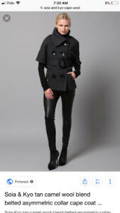 Soia and kyo cape coat