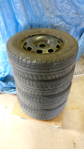 195/65/R15 Michelin X-ice snow tires on Volkswagen steel rims
