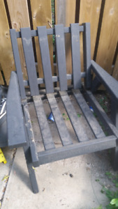 Light Weight Wooden Outdoor Patio Chair  Recently Stained blacki