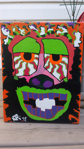 PSYCHADELIC! FAR OUT ABSTRACT ART !Hand Paintes