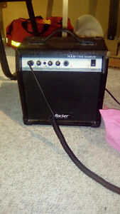 5 string bass and amp
