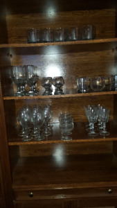 Assorted Glass Ware (  40 pieces  ).