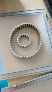 Brand new Swatch Bijoux silver lustro bracelet and ring