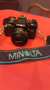Minolta X700 35mm Camera with Lenses, Filters, Case