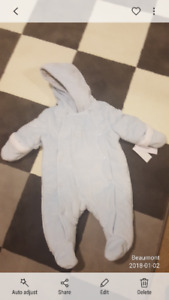 Brand new Calvin Klein with tags snowsuit 3-6 mon