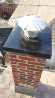 Specializing in Aluminum Chimney caps, Masonry Restoration.