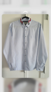 Gucci Embroidered Kingsnake Shirt Size 41/16 US
