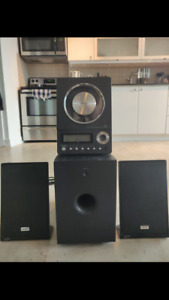 TEAC Subwoofer + Receiver + Speakers in Good Condition