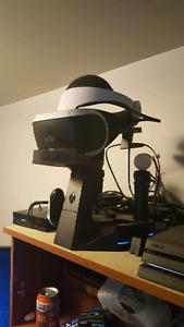 PlayStation vr with move controllers and stand