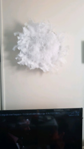 WHITE FEATHER WALL ART JUJU HAT