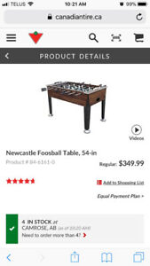 Foosball Table Buy Or Sell Toys Games In Edmonton Kijiji - Newcastle foosball table
