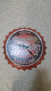 Harley Davidson 3D Tin Sign Wall Clock