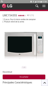 Micro ondes lg convection