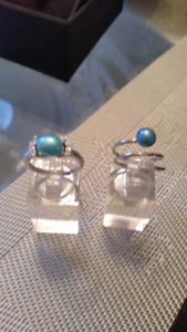 Genuine Real Pearl with Cubic Zirconias