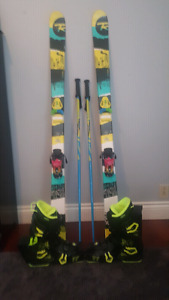 Park skis with Full Tilt boots