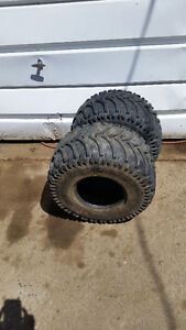 25x12x10 tires & 22x7x10 & 22x11x10 tires for 10 inch rims